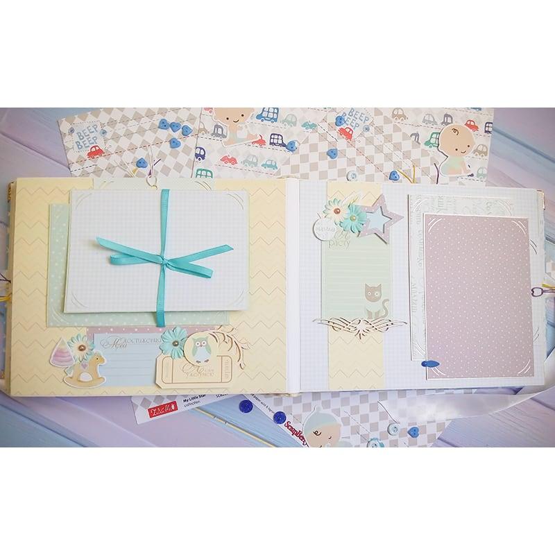 Альбом анкета для новорожденного скрапбукинг Мой Мишутка