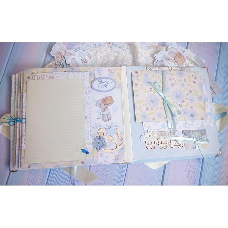 Альбом для мальчика скрапбукинг Мишка Тедди