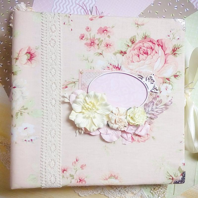 Альбом скрапбукінг Шеббі Шик для новонародженого