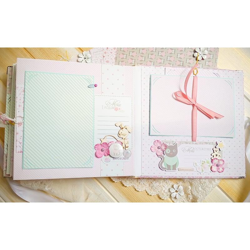 Скрапбукинг фотоальбом Нежность для новорожденных