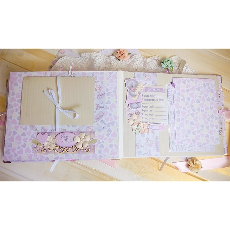 Фотоальбом для новорожденных Принцесса Шебби