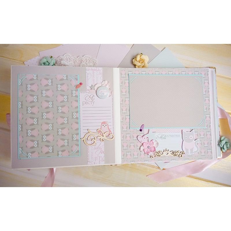 Скрапбукинг альбом для девочки Розовая Магнолия