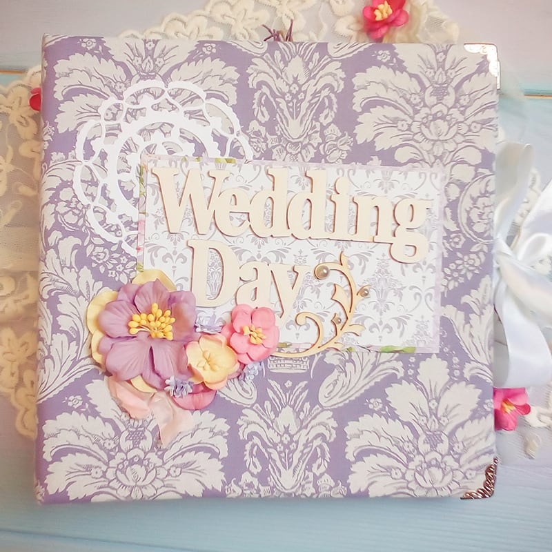 Весільний скрапбукінг фотоальбом Wedding Day Serenity