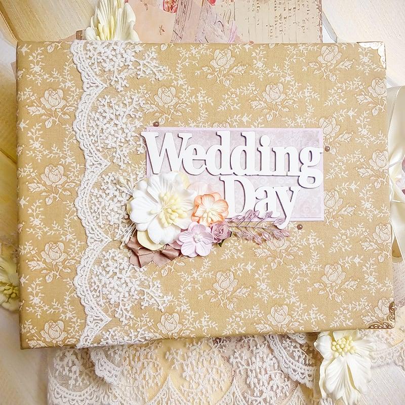 Свадебный скрапбукинг фотоальбом Wedding Day Vintage