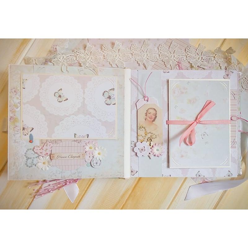 Скрапбукінг альбом весільний Wedding Day Shabby-Shic