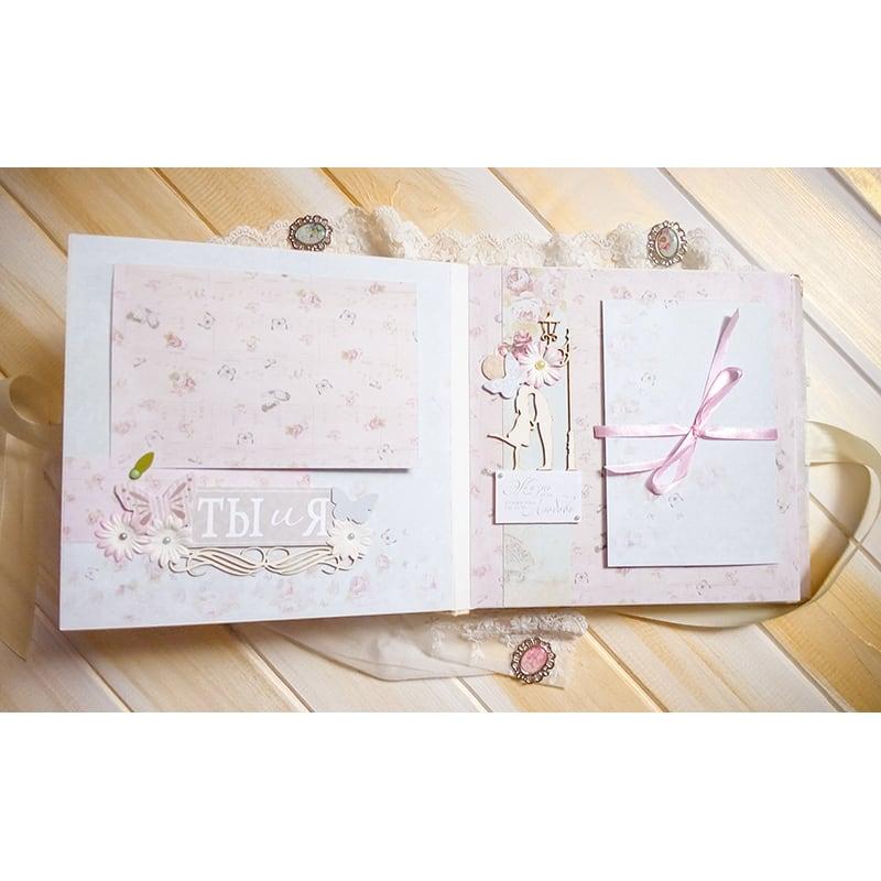 Свадебный скрапбукинг альбом для фотографий Наша Свадьба Ангел