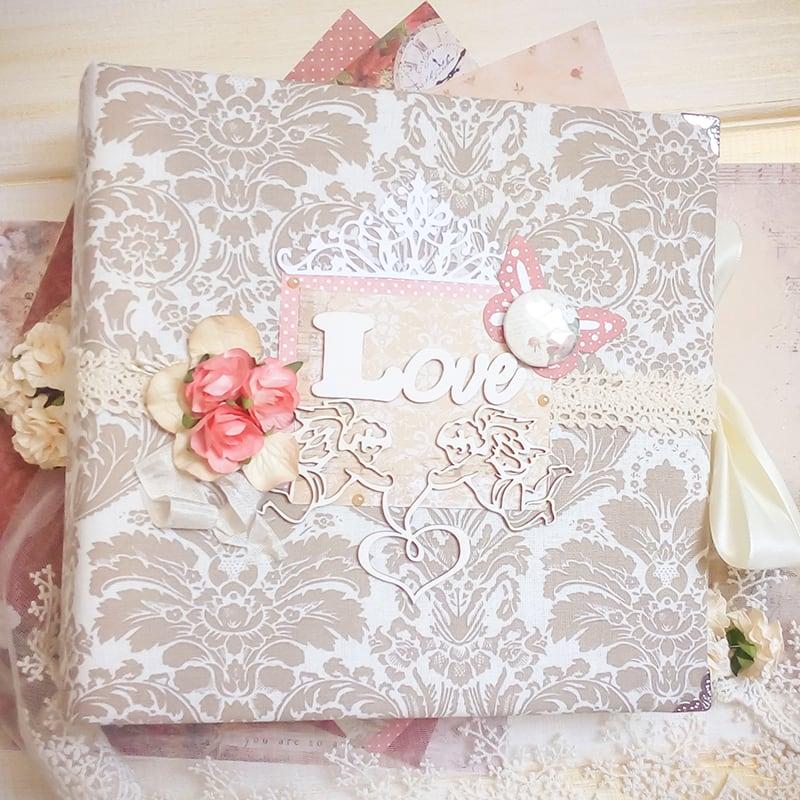 Весільний скрапбукінг фотоальбом Love