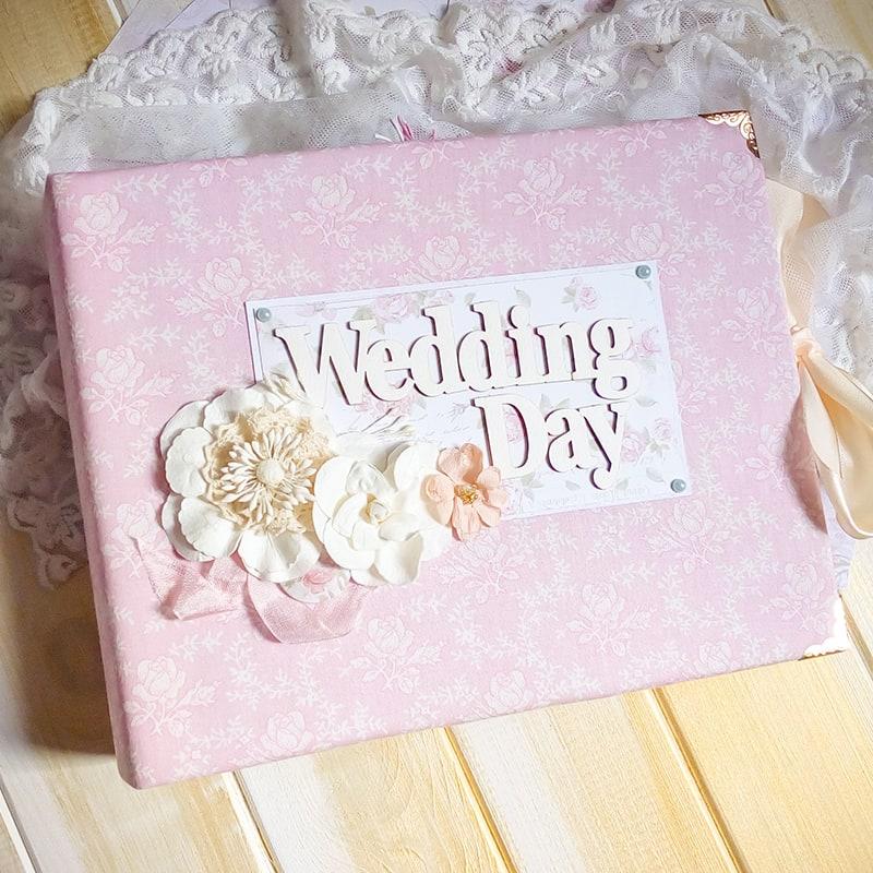 Свадебный скрапбукинг фотоальбом Wedding Day Tenderness