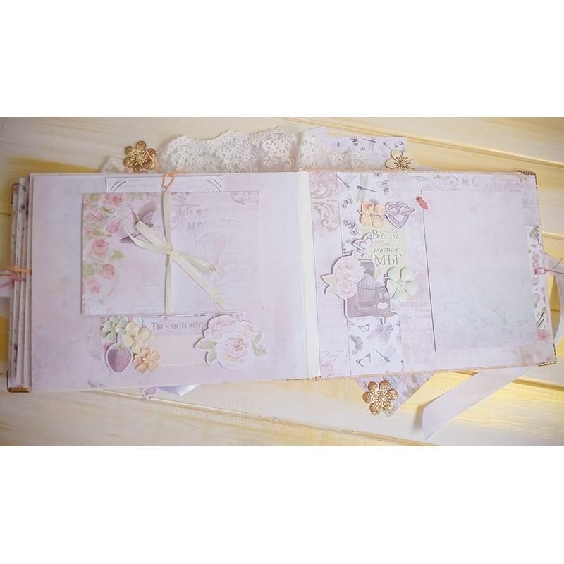 Весільний скрапбукінг фотоальбом Peach Wedding