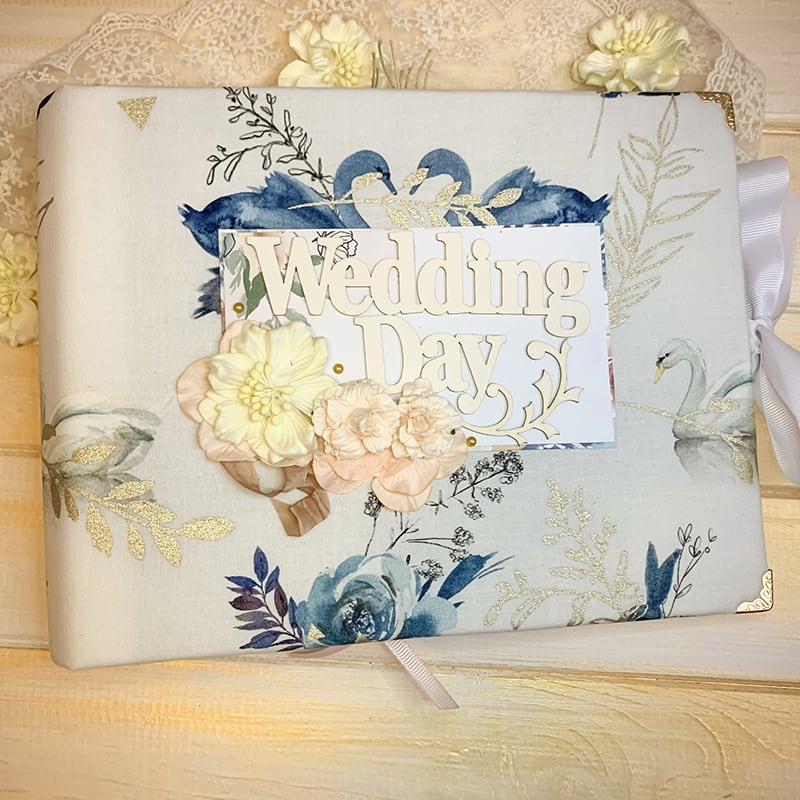 Скрапбукинг альбом свадебный Swans