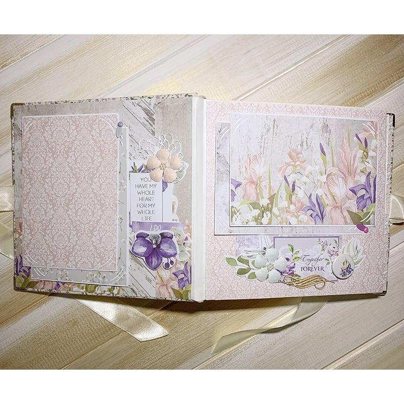Весільний скрапбукінг альбом Wedding Day Serenity