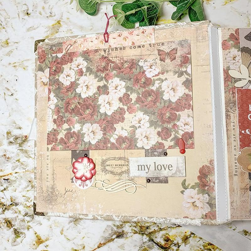Свадебный скрапбукинг альбом Histoire D'amour