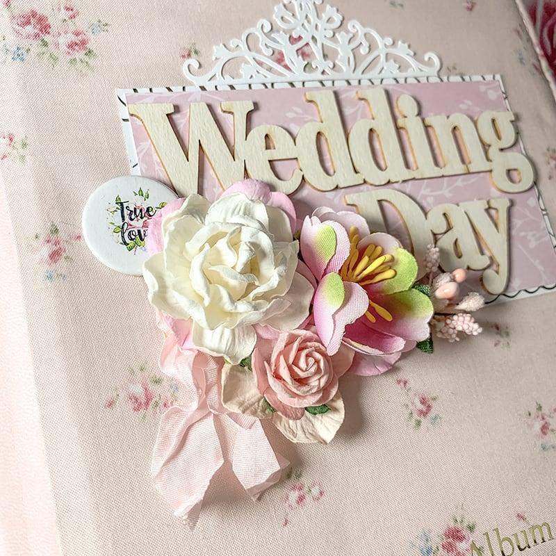 Весільний скрапбукінг альбом Wedding Day Rhapsody
